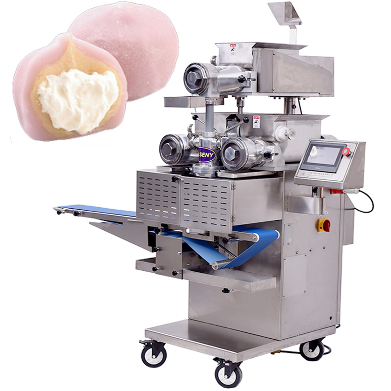 SY-810 Automatic Two colors Mochi Ice-cream Making Encrusting Machine