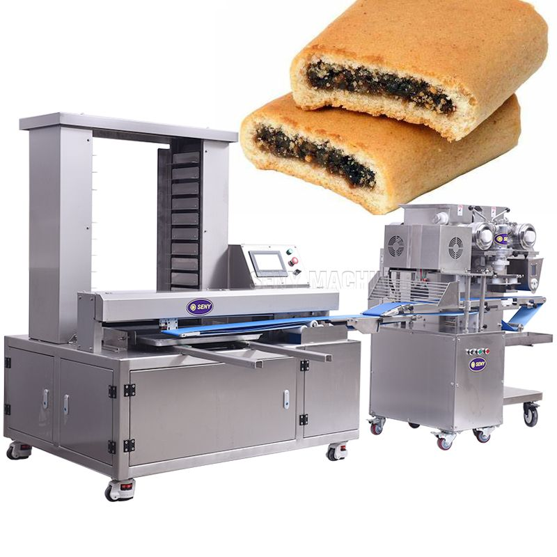 Automatic Filled Twist Cookie Biscuit Fig Bar Making Process Machine
